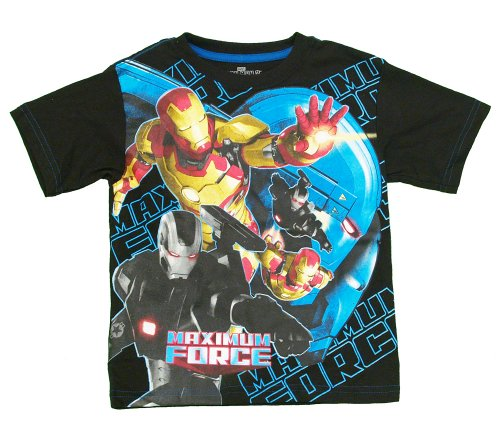 Iron Man 3 Maximum Force Marvel Comics Superhero Movie Juvenile Juvy T-Shirt Tee