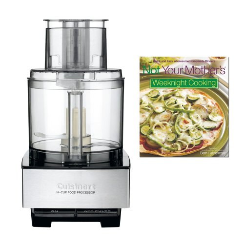 Today Sale Cuisinart DFP-14BCN 14-Cup Food Processor, Brushed Stainless Steel with Not Your Mother's Weeknight Cooking  Review
