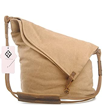Tom Clovers Women's Men's Canvas Crossbody Messenger Shouder Handbag Tote Weekender Bag 2