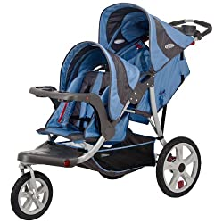 InStep Safari Double Tandem Stroller (16-Inch Blue)