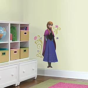 RoomMates RMK2737GM Frozen's Anna with Cape Giant Peel and Stick Wall Decals