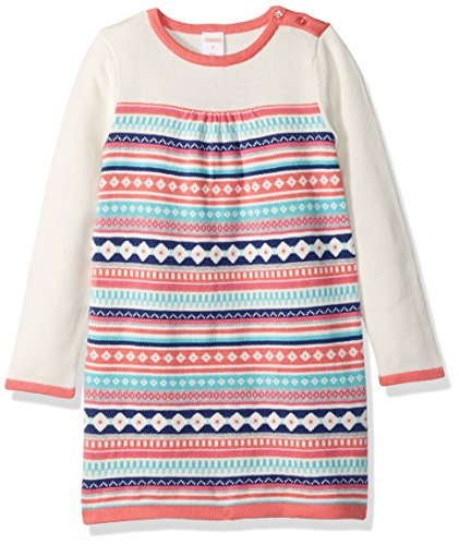 Gymboree Toddler Girls' Pink Fairisle Sweater Dress, Multi, 2T