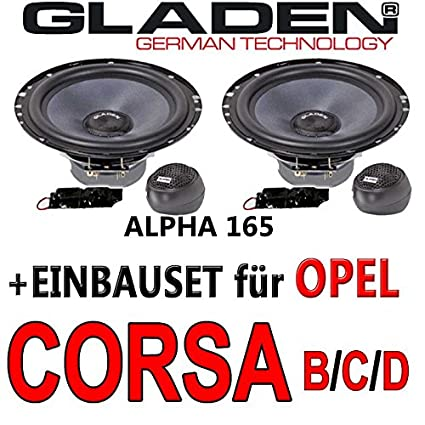 Opel corsa b/c/d-aLPHA gladen 165-16 cm-système composite avec