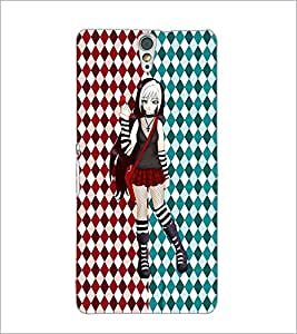 PrintDhaba Cute Girl D-3500 Back Case Cover for SONY XPERIA C5 ULTRA (Multi-Coloured)