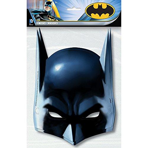 Batman Party Masks, 8ct (Batman Supplies compare prices)