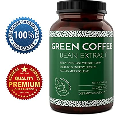 Green Coffee Bean - Natural And Potent Weight Loss Pills For Men And Women - Burn Belly Fat - Metabolism Booster - Powerful Antioxidant - Pure Green Coffee Bean Extract By Natural Vore