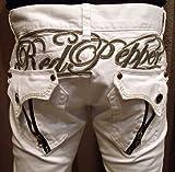 [レッドペッパージーンズ]REDPEPPERJEANS 正規品#6153-1 ギミックジッパー ZIPPER ホワイト 白 カラーパンツ セミストレートジーンズ メンズ RED PEPPER JEANS デニムパンツ ジーパン ブランドジーンズ 男性 紳士服 個性的 クール パンク ロック テイスト