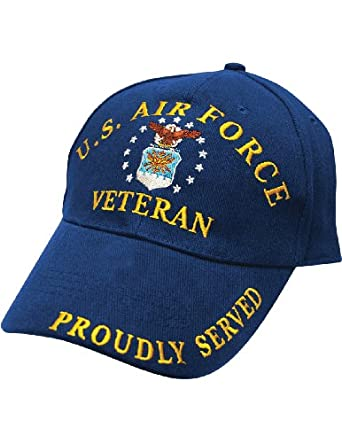 Military Veteran Air Force Blue Cap - Buckle Closure