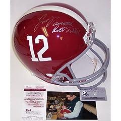 Joe Namath Autographed Hand Signed Alabama Crimson Tide Full Size Helmet - JSA -...