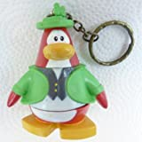 Key Chain - Clip On - SPECIAL - Club Penguin LEPRECHAUN 2 Vinyl Mini Figure - Also GREAT Christmas Ornament - Cake Topper - Mix and Match Body Sections - Highly Collectible and Hard to Find
