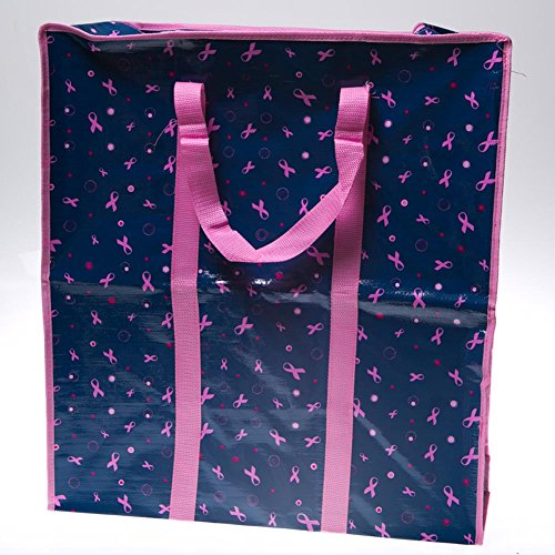 Jumbo Pink Ribbon Laundry Bag - 1