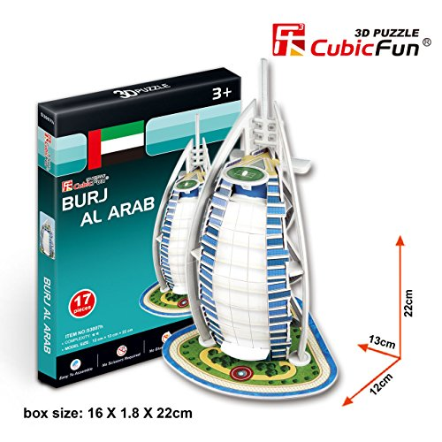 "CubicFun 3D Puzzle S-Series ""Small Burj Al Arab - Dubai"""