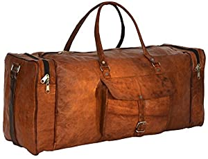 Gusti Leder nature Genuine Leather Travel Shoulder Holdall Vintage Bag Unisex Brown R28b by BagLand