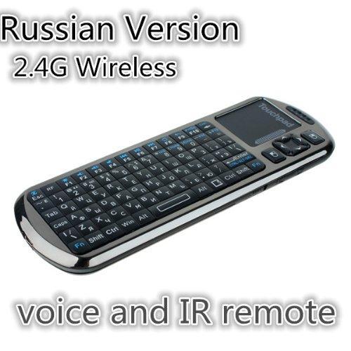 Russian Version Ipazzport Voice Wireless Mini Keyboard Mouse Touchpad