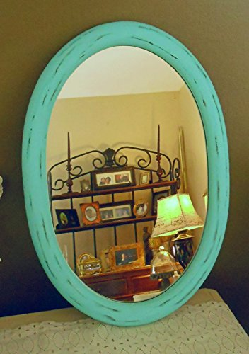 Oval Mirror Upcycled Vintage Large Oval Wall Mirror