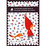 Cute Little Red Riding Hood Wolf Fairy Tale Postcard