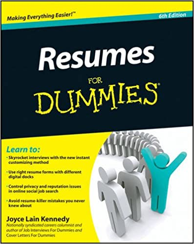 Cv resume template examples for For dummies template book cover