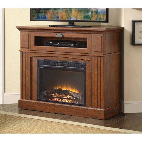 Sumner Corner Media Fireplace, Brown