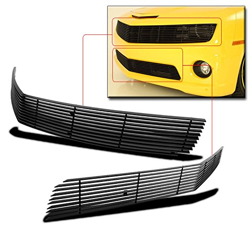 ZMAUTOPARTS Chevy Camaro SS Front Upper+Bumper Lower Billet Grille Combo Phantom Black (2010 Camaro Ss Bumper compare prices)