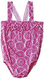 Hatley   Baby Baby Girls\' One Piece Swim Suit Fuchsia Mosaic, Pink, 18 24 Months