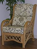 Gilda Replacement Cushions for Cane Conservatory Wicker & Rattan Chair C51 Bamboo Natural plus 11 choices, 6001