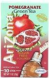 AriZona Pomegranate Green Tea Iced Tea Stix Sugar Free 1-Ounce - Pack of 6