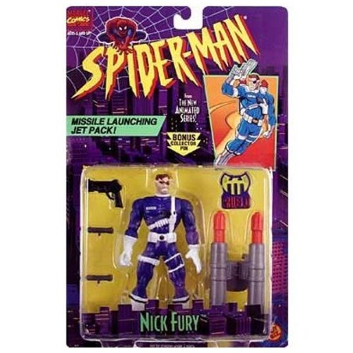 """Nick Fury"" w/ Missle Launching Jetpack Spider-Man"