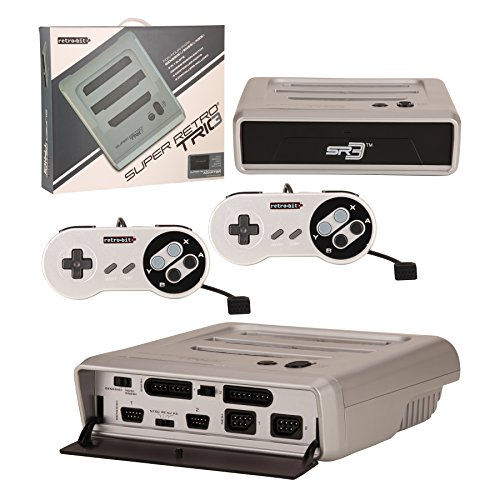 Retro-Bit Super RetroTRIO - Console - NES/SNES/Genesis - 3-in-1 System - Silver/Black (Genesis Original Console compare prices)