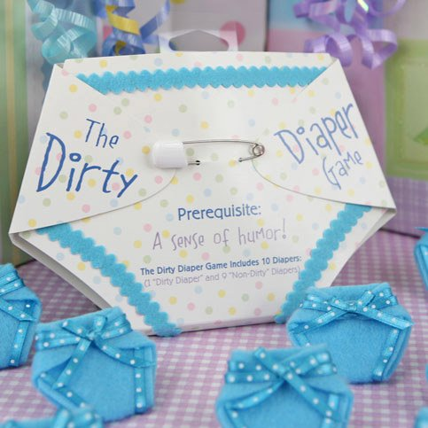 The Dirty Diaper Game - Baby Shower Game - Blue (10 diapers)