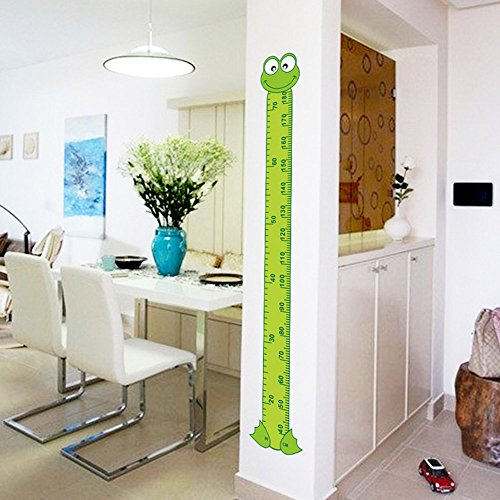 Ideana Green Frog Cartoon Baby Growth Chart Wall Stickers Children Height Measure Wall Stickers Kids Room School Nursery Decoration (Large Ruler Growth Chart compare prices)