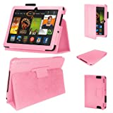Stuff4 PU Leather Professional Portfolio Magnetic Case/Stand Cover for Kindle Fire HDX 8.9 - Pink