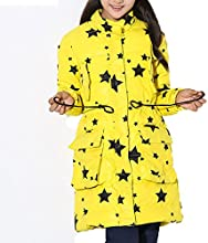 Girls Soft winter Down padded Winter Jacket coats with star icon