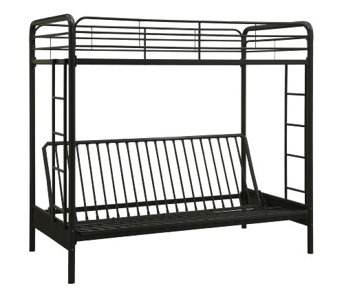 Dorel Home Products Twin-Over-Full Futon Bunk Bed, Black (Twin Over Full Futon compare prices)