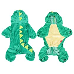 Halloween Costume Dinosaur Design Dog Clothes Coat Puppy Overall Jumpsuit M from sourcingmap