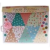 Pretty Florals Paper Bunting Set (EPB1502) - Multicolour - DIY Art And Craft Kits