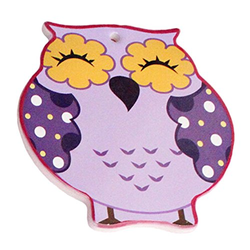 (4 PCS) Scald-proof Cup Mat Drinking Cup Mat Cup Tray Cute Owl Shape Purple