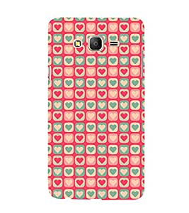 99Sublimation Hearts Design In animation 3D Hard Polycarbonate Back Case Cover for Samsung Galaxy On5 :: G550FY