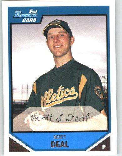 2007 Bowman Chrome Prospects #BC12 Scott Deal - Oakland Athletics (XRC - Rookie Card / Prospect)(Baseball Cards)