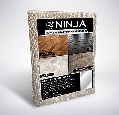 NINJA BRAND Non-Slip Area Rug Pad for Hard Floors, #1 Grip, Maximum Protection