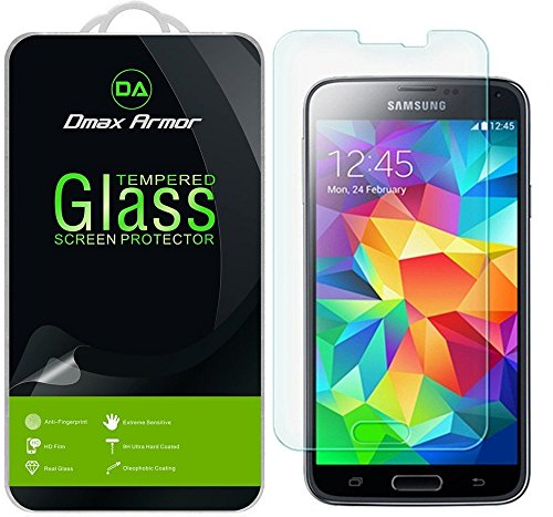 2-Pack-Samsung-Galaxy-S5-Screen-Protector-Dmax-Armor-Tempered-Glass-03mm-9H-Hardness-Anti-Scratch-Anti-Fingerprint-Bubble-Free-Ultra-clear
