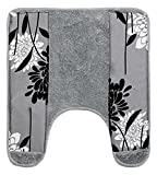 Popular Home The Erica Collection Banded Bath Contour, 23 by 10.5 by 1 , Grey