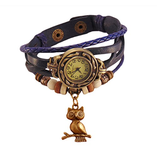 Habors Multiband Watch Blue Bracelet With Owl Charm