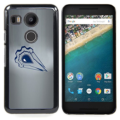 For LG Google Nexus 5X - Minimalist Badge Case Cover Protection Design Ultra Slim Snap on Hard Plastic - God Garden - (Google Chrome Badge compare prices)