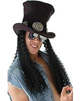 Guitar Rockstar Slash Hat with Hair