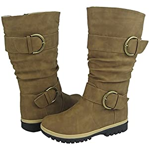 Women Winter Boots Comfy Moda Lora Size 6-11 (6, Tan)