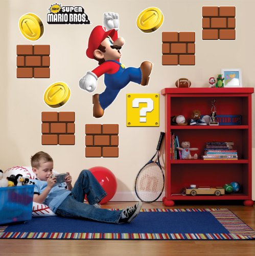 Super mario bros party supplies making a great super mario bros theme party infobarrel - Super mario giant wall decals ...