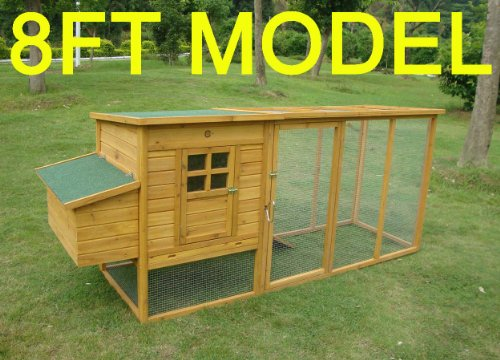 8FT COCOON CHICKEN COOP FOR 5-8 BIRDS HEN HOUSE POULTRY ARK NEST BOX NEW - NOW WITH REAR VENT HOLES AND SECURE NEST BOX FLOOR - 30% MORE LIVING SPACE THAN MODEL 3000 NOW WITH OPENING ROOF FOR EASY CLEANING