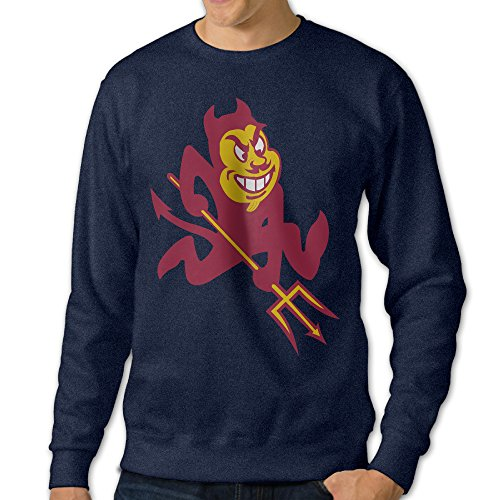 Kamifa Arizona State University Sun Devils 02 Men's Pullover Sweatshirt Navy SizeXXX-Large