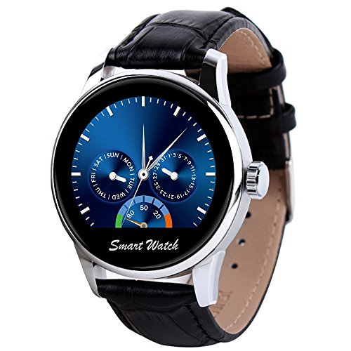 "StarryBay Smart Watch 1.22"" HD IPS Capacitive Touch Screen Writwatch with Voice Gesture Control for Dual Systems/ Android iPhone"