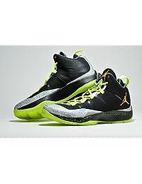 Men's Nike Jordan Super.Fly 2 Christmas Basketball Shoes. Size 12.5. BLACK/TOTAL ORANGE-REFLECTIVE SILVER/METALLIC